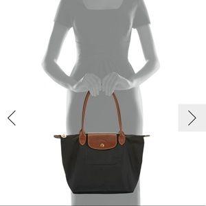 Longchamp Bags - Longchamp Black Le Pliage Small Shoulder Bag